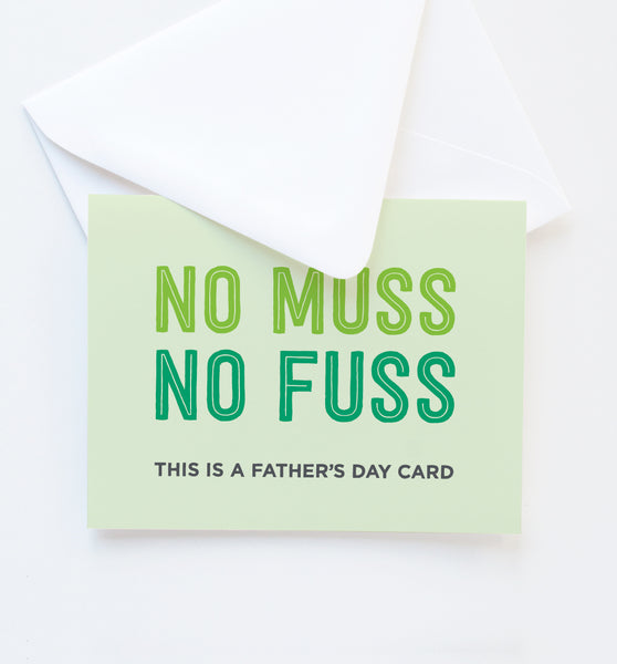 No Fuss greeting card