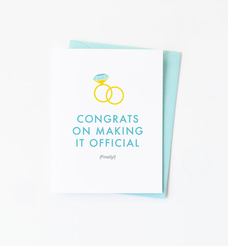 Finally Official greeting card