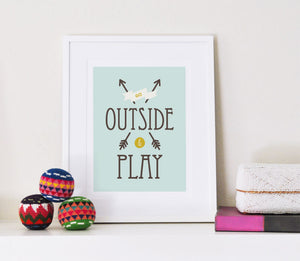 Go Outside and Play art print