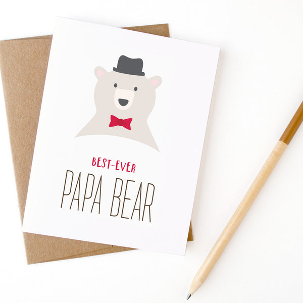Papa Bear greeting card