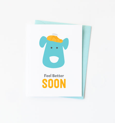 Doggie Get Well card