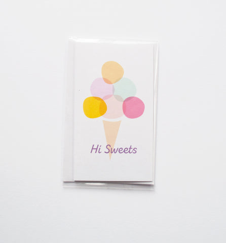 Hi Sweets mini card