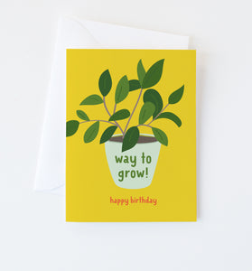 Way to Grow birthday card