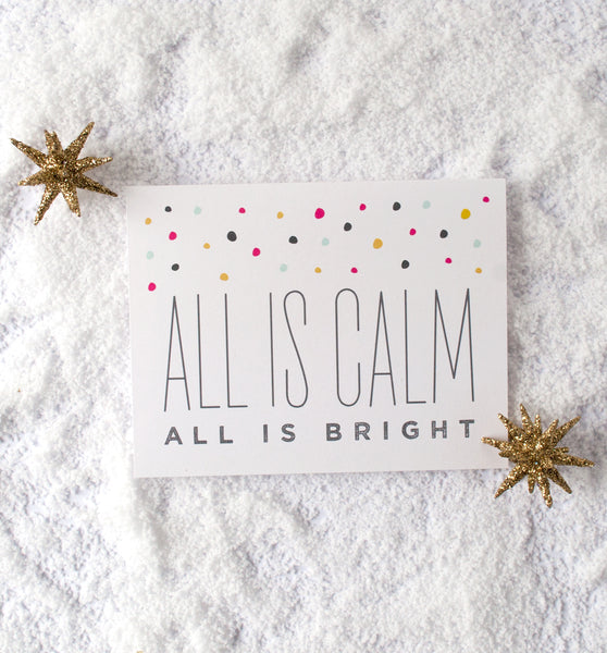 All is Bright holiday card