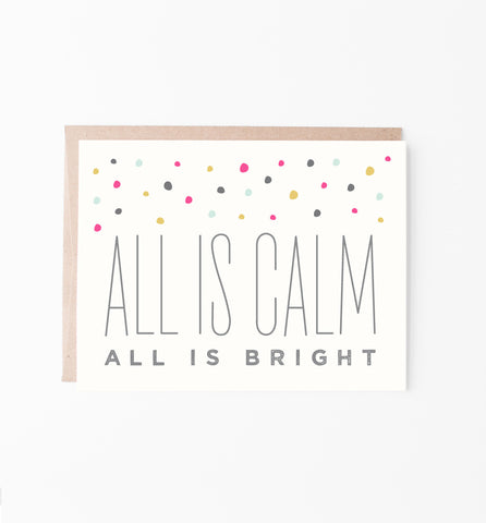 All is Bright Confetti Holiday Greeting Card