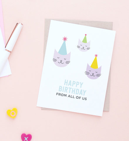 All of Us Cats Birthday card