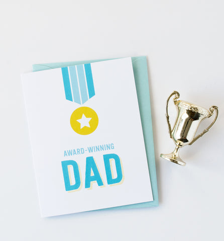 Award Winning Dad greeting card