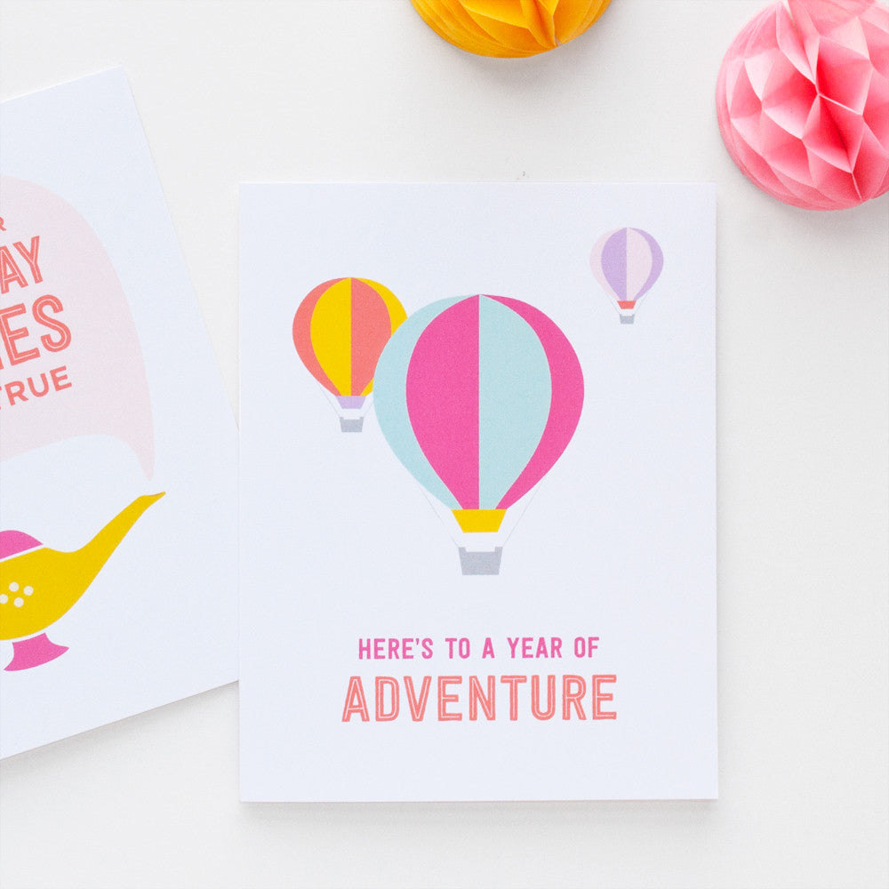Year of Adventure birthday card