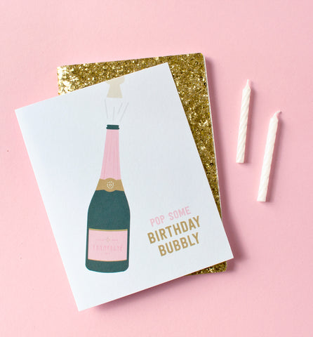 Birthday Bubbly greeting card