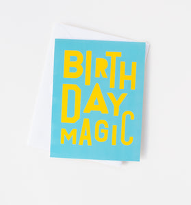 Birthday Magic typographic card