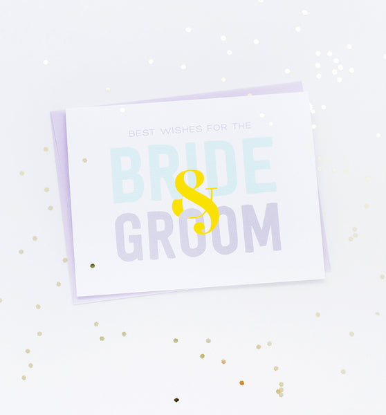 Bride & Groom Best Wishes greeting card