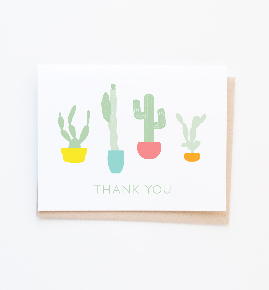 Cacti thank you card