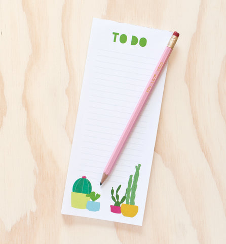 Cactus To Do List note pad