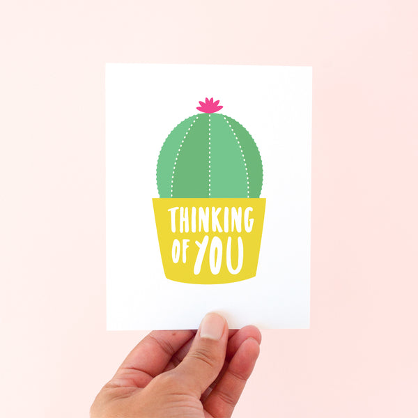 Thinking of You Cactus card