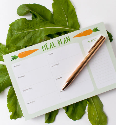Carrot Weekly Meal Plan Notepad