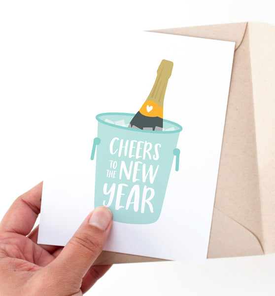 Cheers to the New Year card