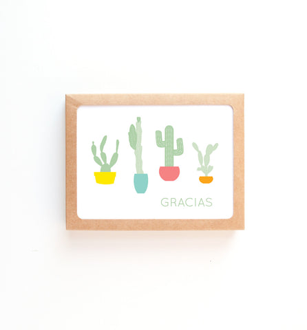 Gracias Cactus Thank You Card