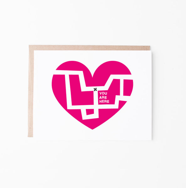 Heart Map greeting card
