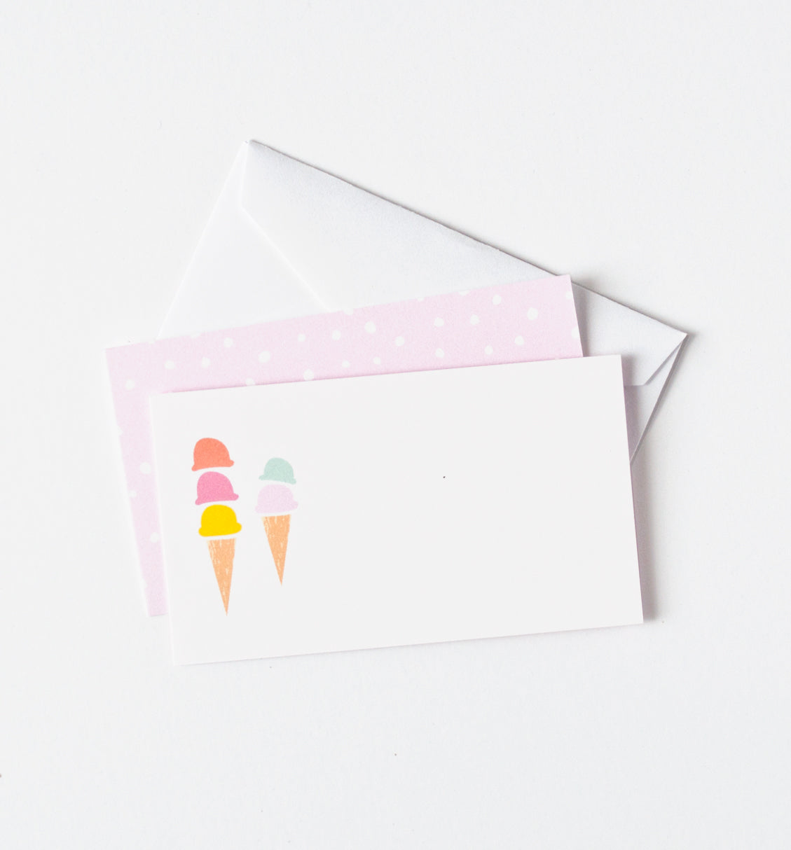 Ice Cream Cones Mini Notes