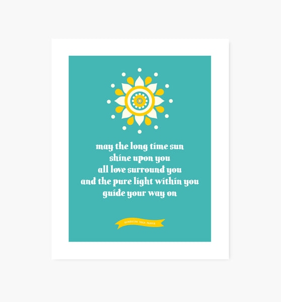 Kundalini Yoga Blessing art print