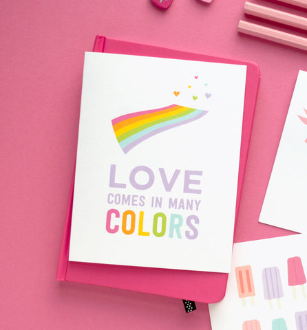 Love Comes in Many Colors Greeting Card