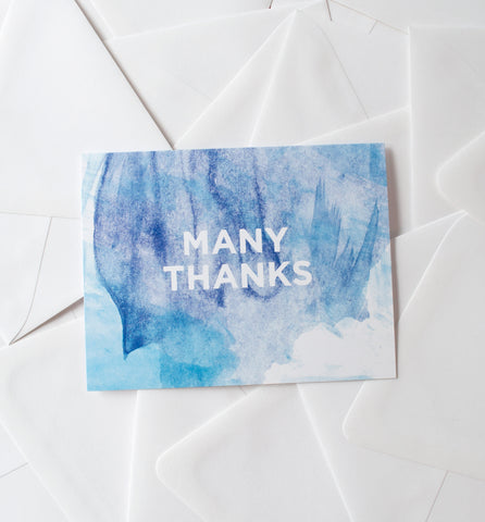 Watercolor Thanks greeting card