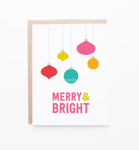 Merry Ornaments holiday cards
