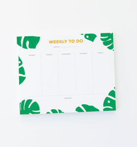 Monstera Weekly Plan pad