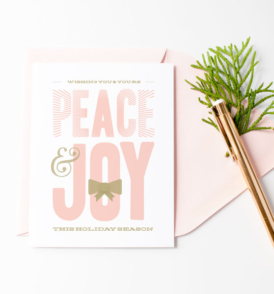 Peace & Joy holiday card