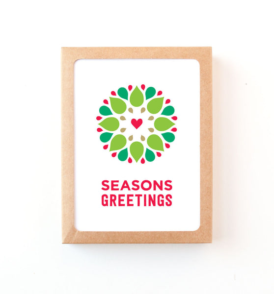 Seasonal Wreath holiday card