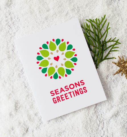 Seasonal Wreath Holiday Greeting Card