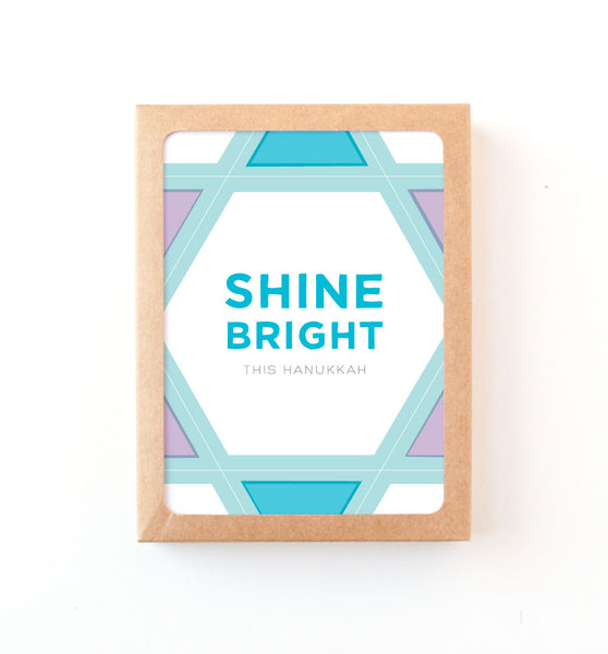 Shine Bright Color Block Hanukkah Card
