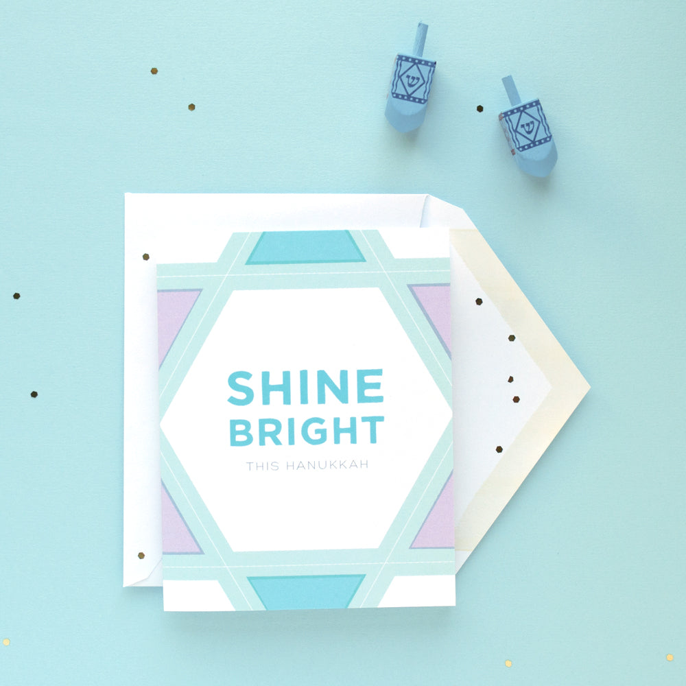 Shine Bright Hanukkah card