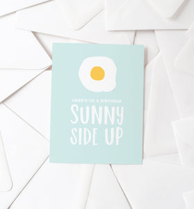 Sunny Side Up Egg birthday card