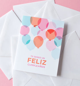 Globos De Cumpleanos Spanish Birthday Card Graphic Anthology LLC