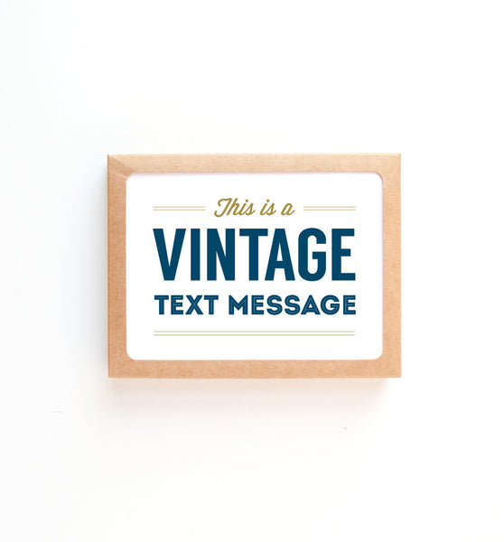 Vintage Text Message greeting card