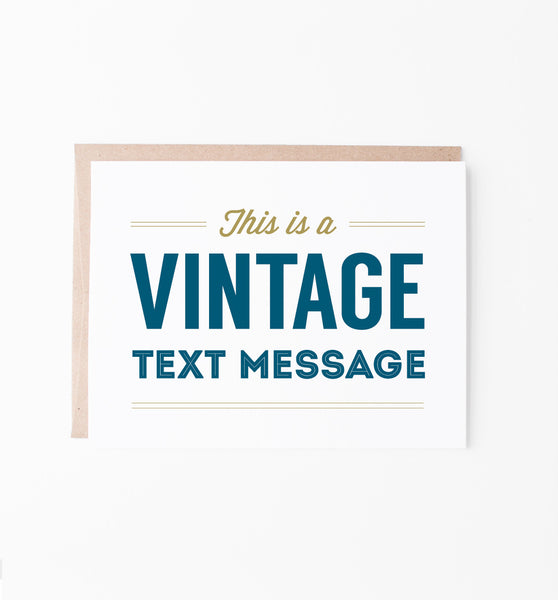 Vintage Text Message