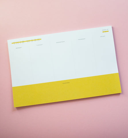 Bright Weekly Plan pad