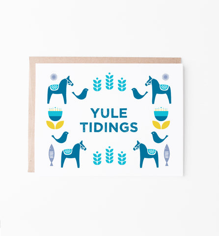 Yule Tidings Scandinavian-inspired Christmas card