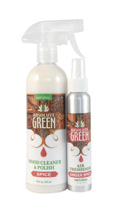 Cinnamon Ginger Spice Wood Cleaner & Air Freshener BUNDLE