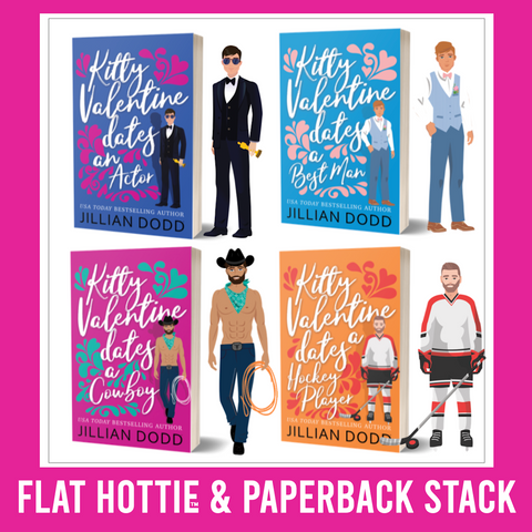 Flat Hotties + Paperback Stack