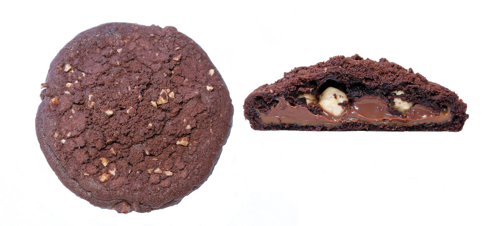 Valrhona Chocolate Cookie with Nutella, Toasted Hazenuts, Fleur de Sel Caramel
