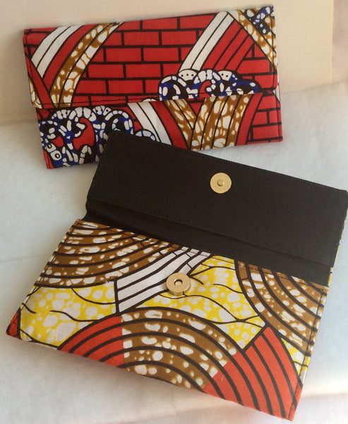 TRIFOLD PURSE - AFRICAN PRINT FABRIC