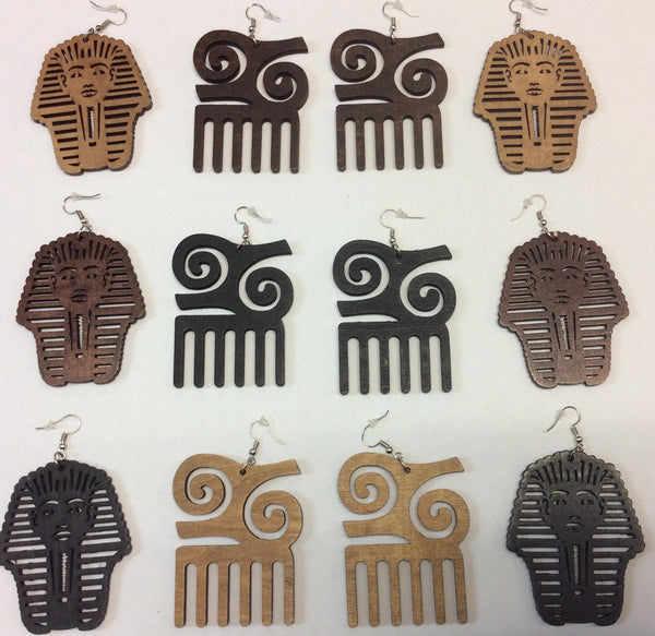 Wooden Earrings- Design 5