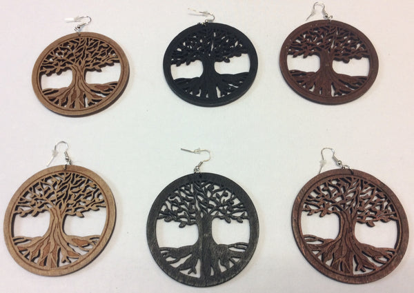 Wooden Earrings - Design 4