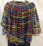 African Print Fabric Cape Artwear - Handmade Fabric Jewelry
