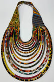 African Ankara Print Layered Rope Design Necklace