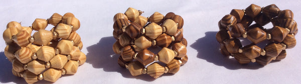 All Natural Spiral Wooden Bracelet