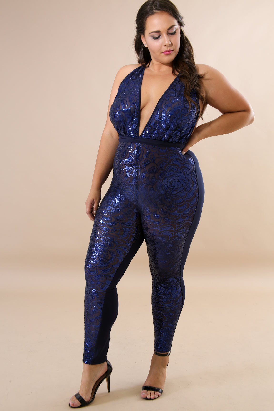 Night Blues Plus Jumpsuit