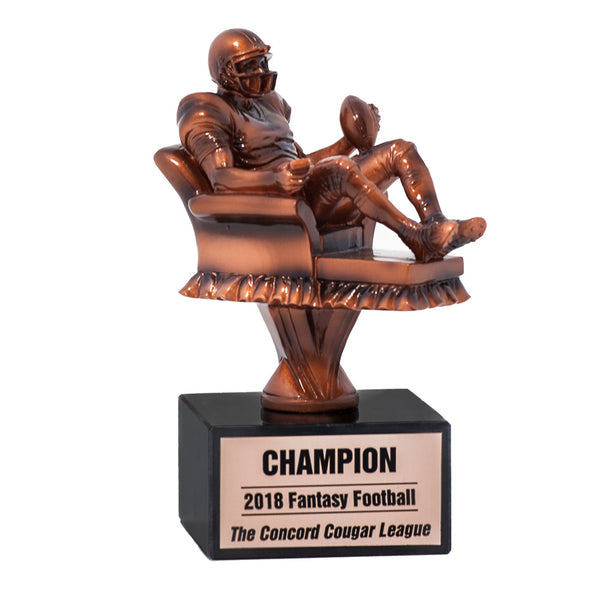 Armchair Quarterback Fantasy Football Trophy Mydraftday